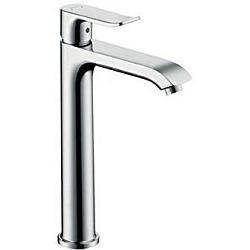 Hansgrohe 31183000 Metris 200 Mitigeur surélevé pour vasque libre avec garniture de vidage Chromé (31183000)