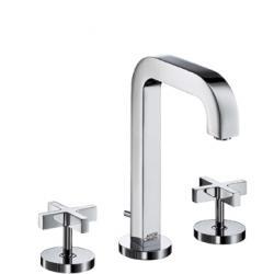 Mélangeur lavabo 170 3 trous Poignées Croisillons bec 140 mm avec tirette et vidage (39133000)