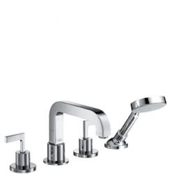 Axor Citterio Set de finition mélangeur 4 trous pour montage sur bord de baignoire