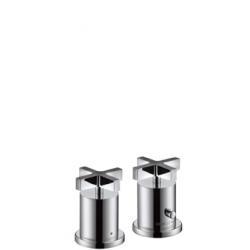 Axor Citterio Set de finition pour thermostatique 2 trous pour montage sur bord de baignoire