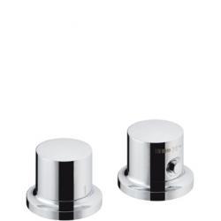 MASSAUD - Set de finition pour thermostatique 2 trous pour montage sur bord de baignoire ou plage de carrelage (18480000)
