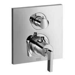 CITTERIO - Set de finition pour mitigeur thermostatique encastré avec robinet d'arrêt poignée manette (39700000)