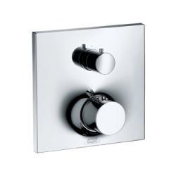 Set de finition pour mitigeur thermostatique encastré avec robinet d'arrêt et inverseur intégrés