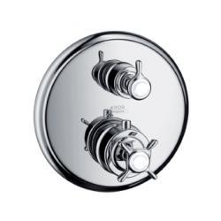 MONTREUX - Set de finition pour mitigeur thermostatique encastré avec robinet d'arrêt et inverseur intégrés (16820000)