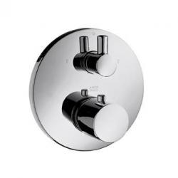 Set de finition pour mitigeur thermostatique encastré, avec robinet d'arrêt et inverseur (38720000)