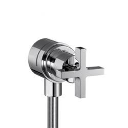 Fixfit Stop. Coude avec robinet d'arrêt intégré, poignée croisillon (39883000)
