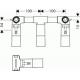 Corps d'encastrement pour mélangeur lavabo mural 3 trous et B/D mural 3 trous.(10303180)