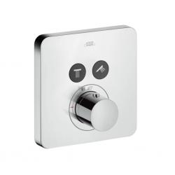 Set de finition pour mitigeur thermostatique ShowerSelect SoftCube encastré avec 2 sorties (36707000)