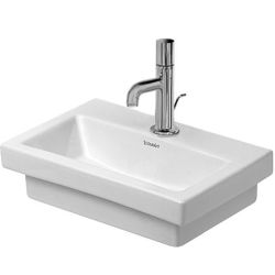 2nd floor Lave-mains meulé sans trop-plein, avec plage de robinetterie, 400 mm