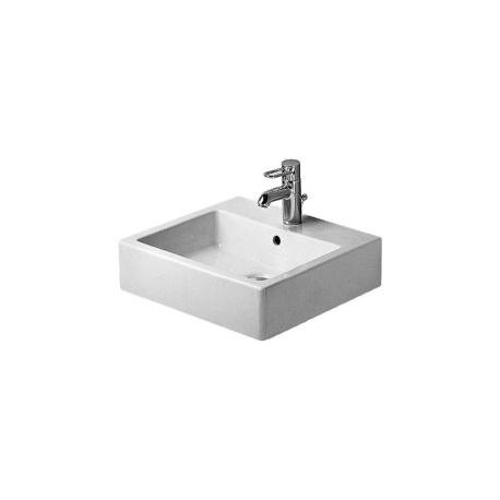 Vero Lavabo, lavabo pour meuble avec plage de robinetterie, 500 mm