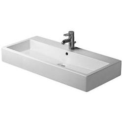 Vero Lavabo, lavabo pour meuble avec plage de robinetterie, 1000 mm
