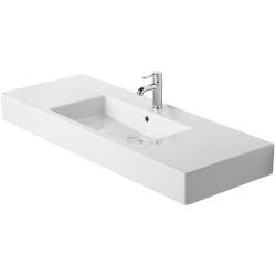 Vero Lavabo, lavabo pour meuble avec plage de robinetterie, 1250 mm