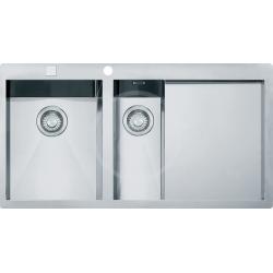 PLANAR - Inox évier PPX 251/651 TL, 1000x512 mm, gauche + siphon (127.0203.467)