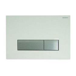 Sigma 40 Plaque de recouvrement rinçage à 2 boutons, blanc (115.600.SI.1)