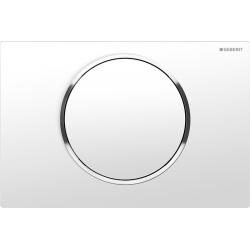 Plaque de déclenchement Sigma10 ST blanc chromé brillant blanc (115.758.KJ.5)