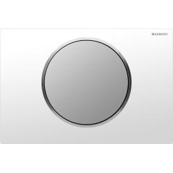 Plaque de déclenchement Sigma10 ST blanc chromé mat (115.758.KL.5)