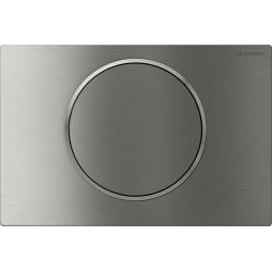 Plaque de déclenchement Sigma10 ST acier inoxydable brossé poli brossé (115.758.SN.5)