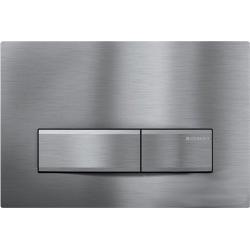 Sigma 50 Plaque de déclenchement de chasse d'eau en chrome brossé pour bâti-support WC Duofix UP320 (115.788.GH.5)