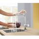 Mitigeur de cuisine Minta avec rotation 360° et douchette (32168000)