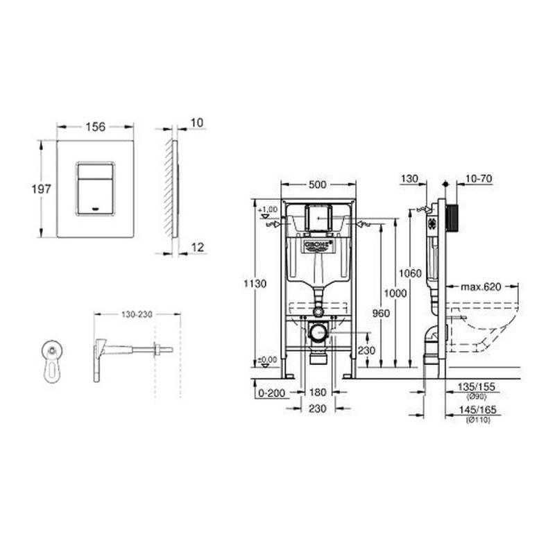 set bati support grohe rapid sl 38772001 akaaz. Black Bedroom Furniture Sets. Home Design Ideas