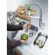 K7 — Mitigeur de cuisine avec douchette professionnelle à zone de rotation de 360° (grand modèle) (32950000)