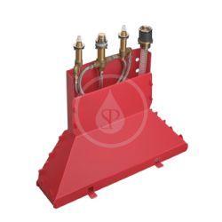 Combiné mélangeur 4 trous. Corps d'encastrement pour montage sur bord de baignoire (13444180)