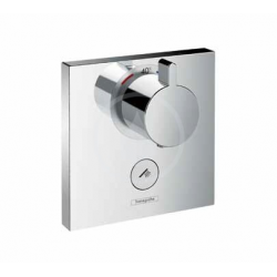 Set de finition pour mitigeur thermostatique ShowerSelect E encastré haut débit avec une sortie permanente et un robinet d'arrêt