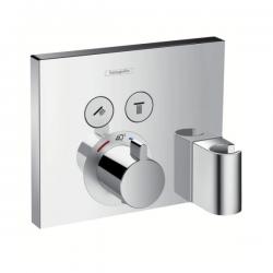 Set de finition pour mitigeur thermostatique ShowerSelect E encastré avec 2 fonctions, fixfit et porter (15765000)