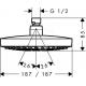 Douche de tête Croma Select E 180 2jet EcoSmart (26528400)