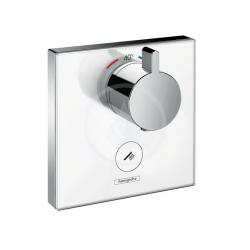Set de finition en verre pour mitigeur thermostatique ShowerSelect E encastré haut débit avec une sortie permanente