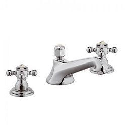 Trois trous Mélangeur lavabo, chrome
