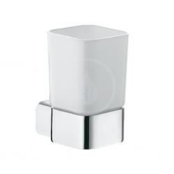 verre opale blanc chromé