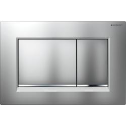Plaque de déclenchement double touche Sigma30, chromé mat/brillant/mat (115.883.KN.1)