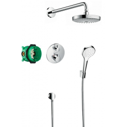 Croma Select S, Pack encastré Design ShowerSet Croma Select S / Ecostat S, chromé (27295000)