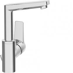 Twist Mitigeur de lavabo bec haut tête Compact vidage automatique Chrome (09542203)