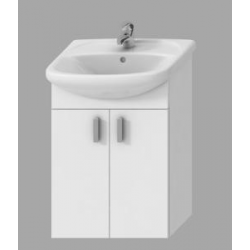 Meuble 2 placards + lavabo Lyra Pack, 502mm x 292mm x 708mm (H4519514323001)