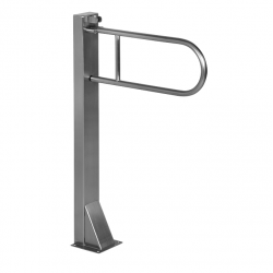 Barre d'appui en acier inoxydable avec support (SLZM 07X)