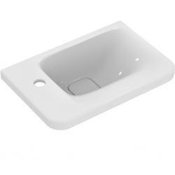 TONIC II Lave-mains asymétrique 45 x 31 cm, trop-plein caché, 1 trou à gauche. Couleur blanc (K087501)