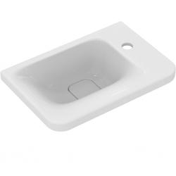 TONIC II Lave-mains asymétrique 45 x 31 cm, trop-plein caché, 1 trou à droite. Blanc (K087601)