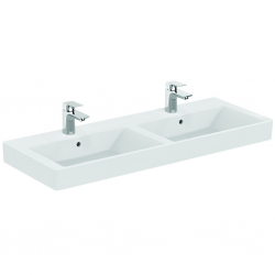 STRADA Lavabo double 121 x 45,5 cm blanc Ideal Plus (K0791MA)