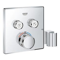 Grohtherm SmartControl Thermostatique pour installation encastrée 2 sorties avec support de douche integré (29125000)
