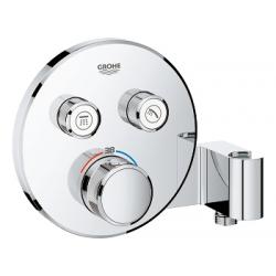 Grohtherm SmartControl Thermostatique pour installation encastrée 2 sorties avec support de douche integré (29120000)