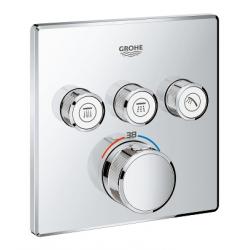 GROHE Grohtherm SmartControl Thermostat avec 3 robinets d'arrêt, 1 pièce, (29126000)