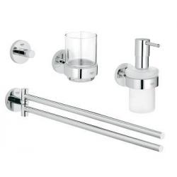 GROHE Set de salle bain 4 en 1 Essentials, pièce, 40846001
