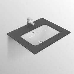 CONNECT Lavabo à sous-encastrer rectangulaire 420 x 175 x 350 mm, blanc (E505601)