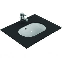 CONNECT Lavabo à sous-encastrer ovale 480 x 175 x 350 mm, blanc (E504601)