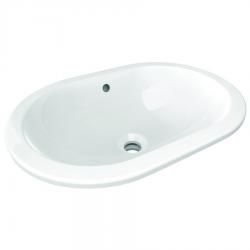 CONNECT Lavabo à sous-encastrer ovale 550 x 175 x 380 mm, blanc (E504801)