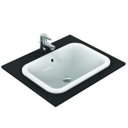 CONNECT Lavabo à encastrer sans trou, rectangulaire 580 x 175 x 410 mm blanc (E505901)