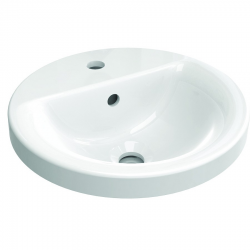 CONNECT Connect lavabo à encastrer rond 380 x 165 x 380 mm,blanc (E504101)