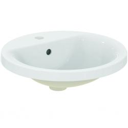 Connect lavabo à encastrer rond 480 x 175 x 480 mm, blanc (E504201)